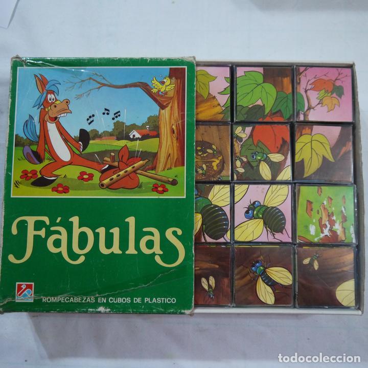 Juegos de mesa: ROMPECABEZAS DE 12 CUBOS DE PLÁSTICO - FABULAS TOMO I - Foto 4 - 112153647