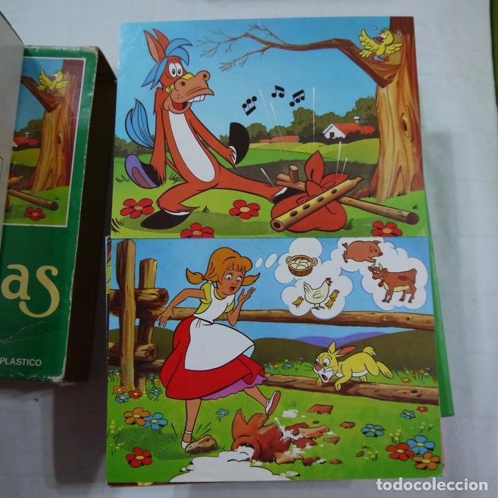 Juegos de mesa: ROMPECABEZAS DE 12 CUBOS DE PLÁSTICO - FABULAS TOMO I - Foto 6 - 112153647