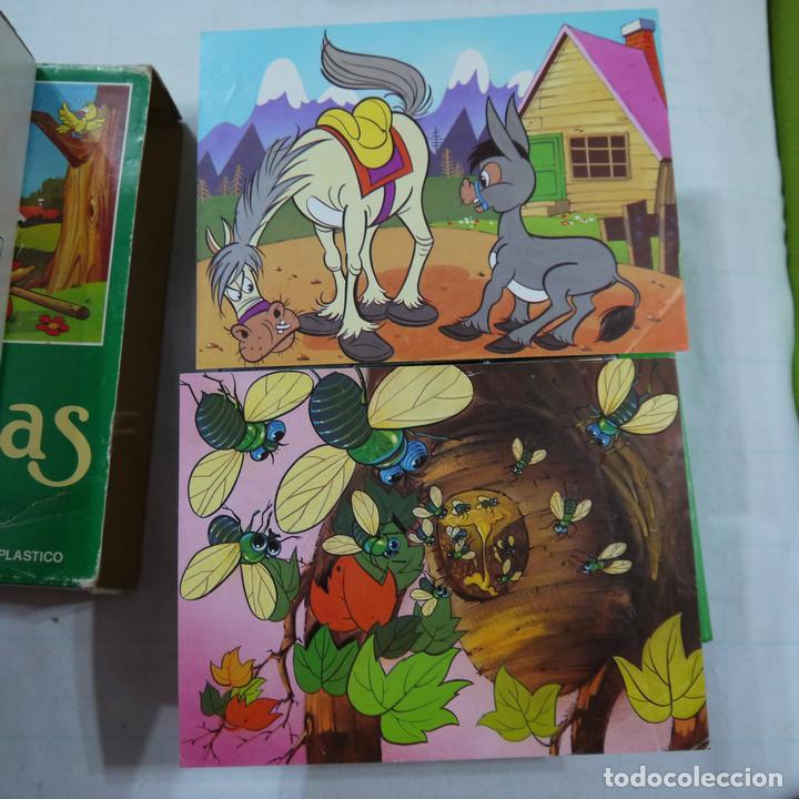 Juegos de mesa: ROMPECABEZAS DE 12 CUBOS DE PLÁSTICO - FABULAS TOMO I - Foto 7 - 112153647