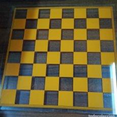 Juegos de mesa: TABLERO AJEDREZ DAMAS METACRILATO. Lote 112326687