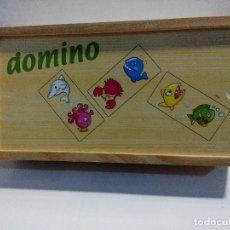 Juegos de mesa: DOMINO INFANTIL DE MADERA. Lote 112374619