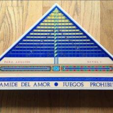 Juegos de mesa: JUEGO PIRAMIDE DEL AMOR, JUEGOS PROHIBIDOS NIVEL 1 LEER. Lote 112473079