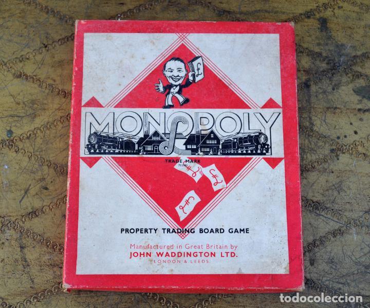 Juegos de mesa: ANTIGUO MONOPOLY INGLES JOHN WADDINGTON AÑOS 40 * (1947) FIGURAS DE METAL CASAS DE MADERA COMPLETO - Foto 2 - 112601523