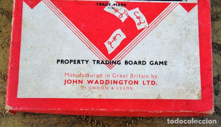 Juegos de mesa: ANTIGUO MONOPOLY INGLES JOHN WADDINGTON AÑOS 40 * (1947) FIGURAS DE METAL CASAS DE MADERA COMPLETO - Foto 3 - 112601523