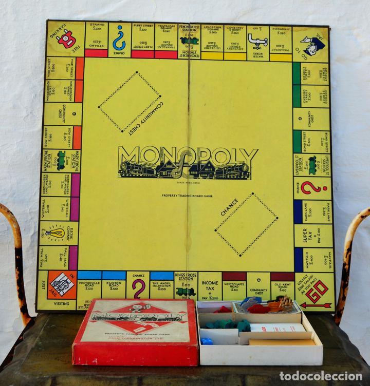 Juegos de mesa: ANTIGUO MONOPOLY INGLES JOHN WADDINGTON AÑOS 40 * (1947) FIGURAS DE METAL CASAS DE MADERA COMPLETO - Foto 5 - 112601523