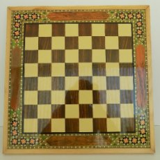 Juegos de mesa: TABLERO DE AJEDREZ. MARCA HIJOS DE J. DOMENECH. ORIGINAL AÑOS 80. NUEVO, A ESTRENAR!. Lote 112743856