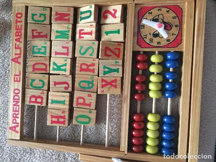 Abecedario Abaco Reloj De Madera Educativo Comprar Juegos De