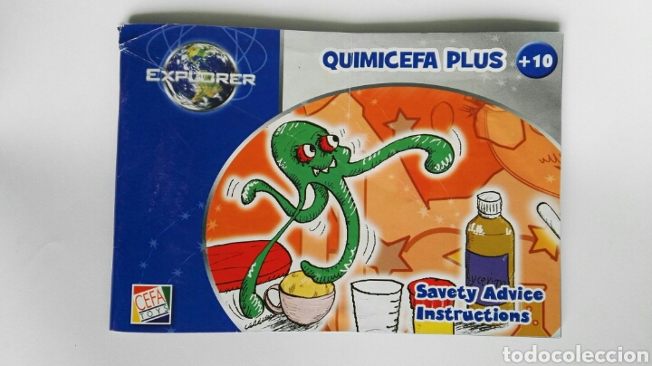 Quimicefa plus savety advice instructions cefa toys en inglés segunda mano