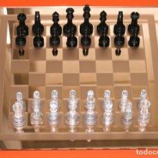 Juegos de mesa: TABLERO DE AJEDREZ DE CRISTAL CON SUS PIEZAS. Lote 113673751