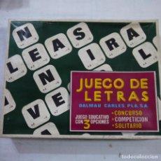 Juegos de mesa: JUEGO DE LETRAS - DALMAU CARLES PLA. Lote 113729043
