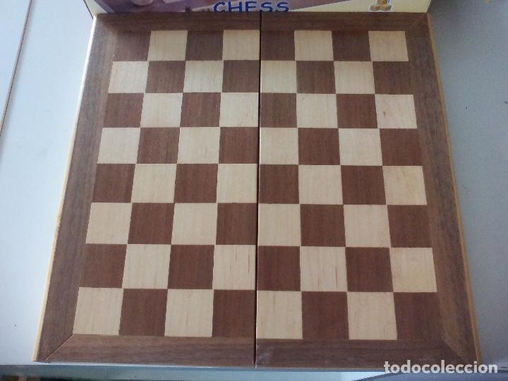 Juegos de mesa: JUEGO DE AJEDREZ, TABLERO Y PIEZAS DE MADERA - Foto 6 - 113866691