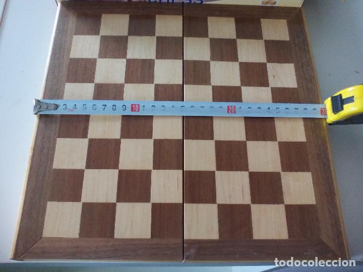 Juegos de mesa: JUEGO DE AJEDREZ, TABLERO Y PIEZAS DE MADERA - Foto 7 - 113866691