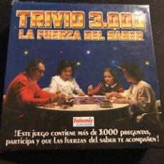 Juegos de mesa: TRIVIO 3000 LA FUERZA DEL SABER. Lote 114286482