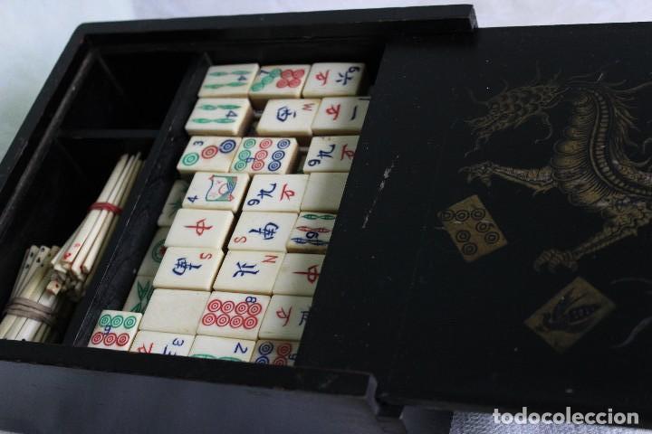 Antiguo Juego Chino Mahjong Original Con Realiz Comprar Juegos De