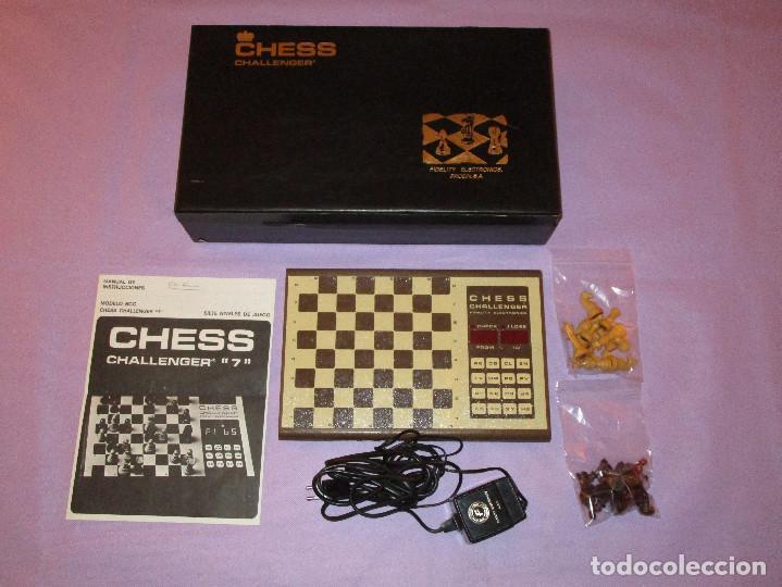 AJEDREZ CHESS CHALLENGER (7) - ELECTRONICO - FIDELITY ELECTRONICS PROEIN S.A. - FUNCIONA (Juguetes - Juegos - Juegos de Mesa)