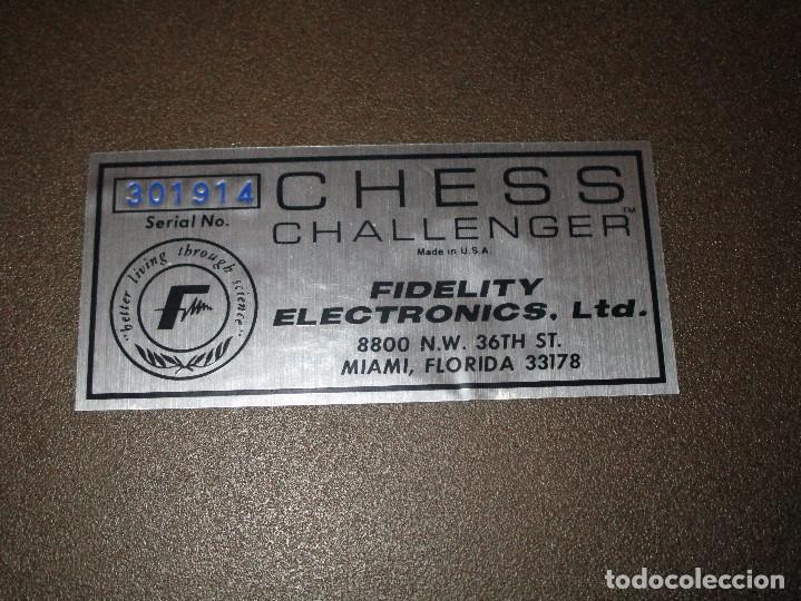 Juegos de mesa: AJEDREZ CHESS CHALLENGER (7) - ELECTRONICO - FIDELITY ELECTRONICS PROEIN S.A. - FUNCIONA - Foto 13 - 114650615