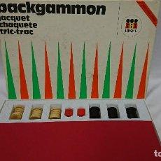 Juegos de mesa: ANTIGUO JUEGO DE MESA BACKGAMMON DE DISET - FABRICADO EN ESPAÑA. Lote 114821275