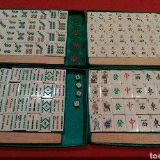 Juegos de mesa: JUEGO MAH-JONG AÑOS 60 EN HUESO Y BAMBÚ EN SU ESTUCHE ORIGINAL. Lote 115568572