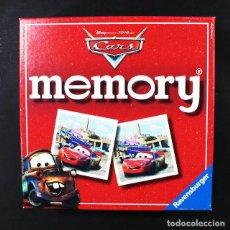 Juegos de mesa: JUEGO DE MESA MEMORY CARS DISNEY PIXAR 72 FICHAS COMPLETO. Lote 116237767