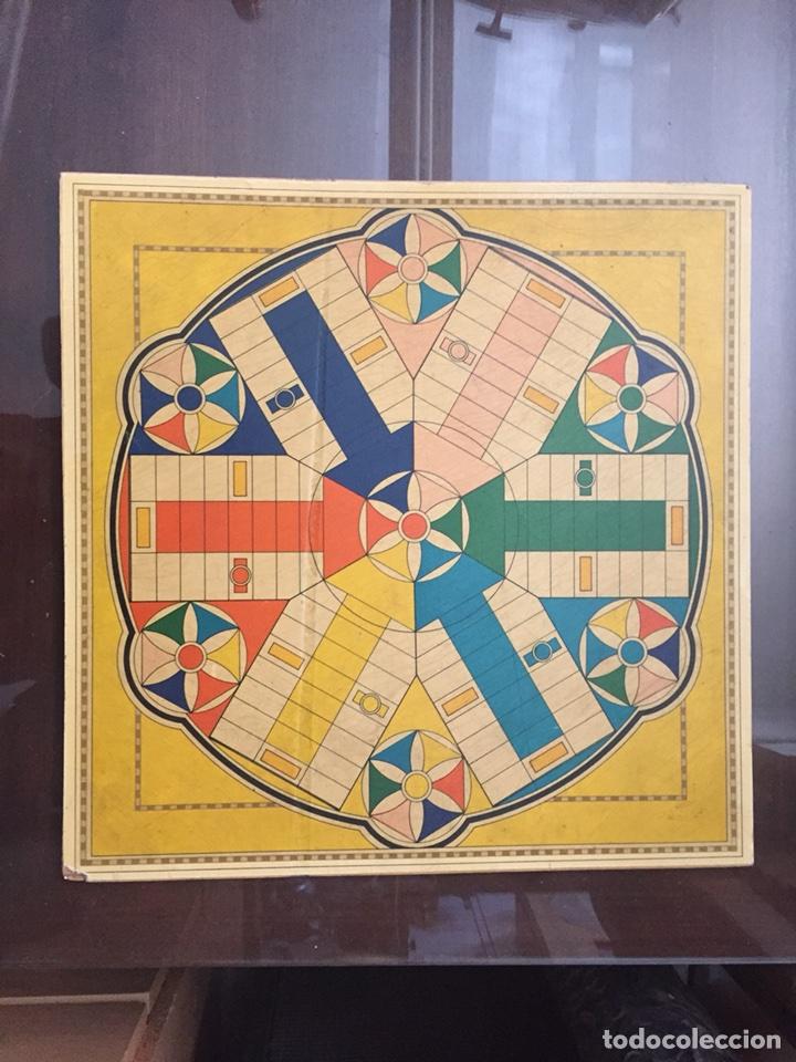 TABLERO PARCHIS 6 JUGADORES Y AJEDREZ (Juguetes - Juegos - Juegos de Mesa)