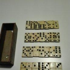 Juegos de mesa: MAGNÍFICO DOMINO DE HUESO Y MADERA SIGLO XIX.. Lote 206289620
