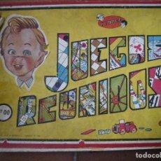 Juegos de mesa: JUEGOS REUNIDOS GEYPER EN CAJA DE MADERA DOBLE 0 Nº 00 INCOMPLETO TIENE 6 DE 8 JUEGOS. Lote 116696839