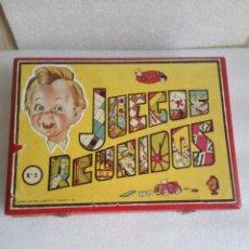 Juegos de mesa: JUEGOS REUNIDOS GEYPER CAJA DE MADERA 0 AÑOS 50. Lote 116705623