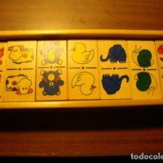 Juegos de mesa: JUEGO DE DOMINO INFANTIL DE MADERA EN PERFECTO ESTADO. Lote 116893575