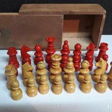 Juegos de mesa: JUEGO DE AJEDREZ CAJA DE MADERA CON TODAS LAS PIEZAS EN MADERA . Lote 117415775