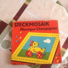 Juegos de mesa: JUEGO MOSAICO.STECKMOSAIK MOSAIQUE CHAMPIGNON EDITION CARLIT ZURICH. Lote 117749779