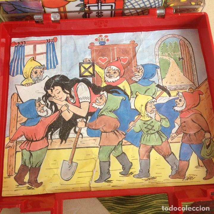 Juegos de mesa: Antiguo juego de cubos de plástico duro con 4 imágenes diferentes,años 80 - Foto 2 - 117755079