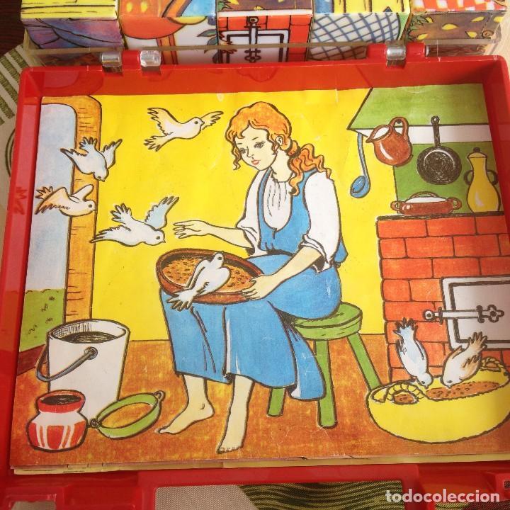 Juegos de mesa: Antiguo juego de cubos de plástico duro con 4 imágenes diferentes,años 80 - Foto 5 - 117755079