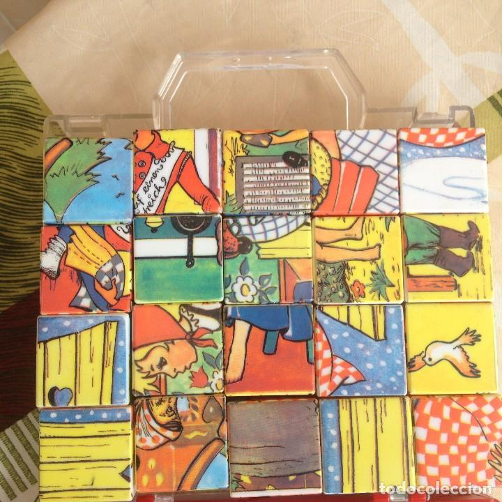 Juegos de mesa: Antiguo juego de cubos de plástico duro con 4 imágenes diferentes,años 80 - Foto 7 - 117755079