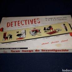 Juegos de mesa: DETECTIVES GRAN JUEGO DE INVESTIGACIÓN JUEGOS CRONE INCOMPLETO. Lote 117992524