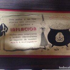 Juegos de mesa: ANTIGUO JUEGO DE MESA COMPLETO INFLACION DE JUEGOS CRONE EXCELENTE ESTADO. Lote 118275835
