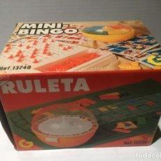 Juegos de mesa: ANTIGUO JUEGO MINI BINGO RULETA SIN USO ALGUNO. Lote 118501983
