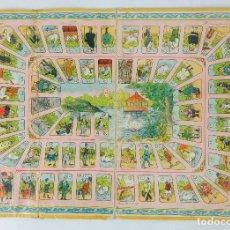 Juegos de mesa: TABLERO EN CARTÓN DE JUEGO DE MESA LA OCA AÑOS 20. Lote 118619263