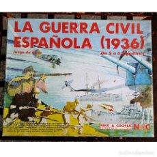 Juegos de mesa: JUEGO DE MESA LA GUERRA CIVIL ESPAÑOLA 1936 * NIKE AND COOPER NAC * AÑO 1983 COMPLETO SERIE WARGAME. Lote 118795635