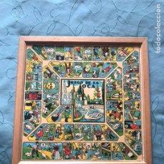 Juegos de mesa: JUEGO DE LA OCA - PARCHIS DE MADERA - AÑOS 70. Lote 148104914