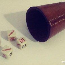 Juegos de mesa: CARLOS III DADOS POKER Y CUBILETE PUBLICIDAD. Lote 119227635