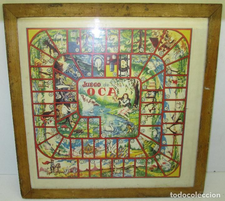 ANTIGUO TABLERO PARCHIS / OCA (Juguetes - Juegos - Juegos de Mesa)