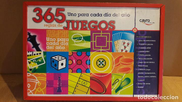 365 JUEGOS / 1 PARA CADA DÍA DEL AÑO / JUGUETES CAYRO / COMPLETO EN CAJA DE MADERA. (Juguetes - Juegos - Juegos de Mesa)