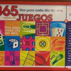 Juegos de mesa: 365 JUEGOS / 1 PARA CADA DÍA DEL AÑO / JUGUETES CAYRO / COMPLETO EN CAJA DE MADERA.. Lote 119286247