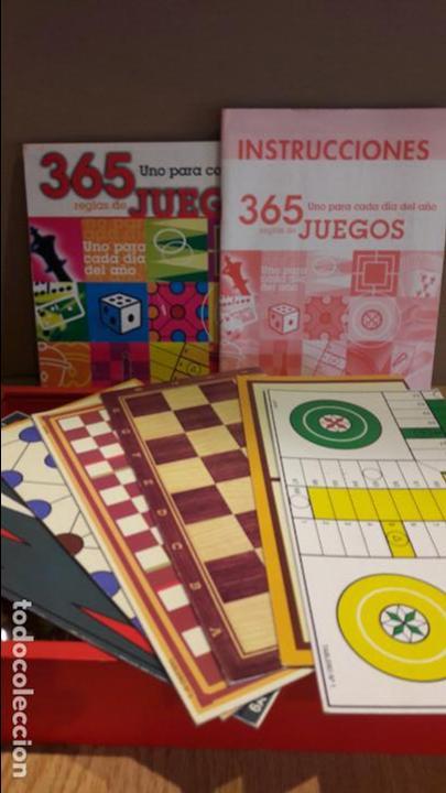Juegos de mesa: 365 JUEGOS / 1 PARA CADA DÍA DEL AÑO / JUGUETES CAYRO / COMPLETO EN CAJA DE MADERA. - Foto 2 - 119286247
