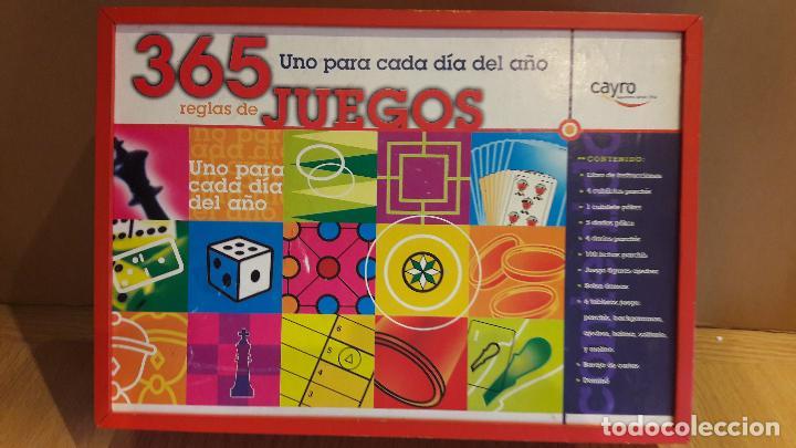 Juegos de mesa: 365 JUEGOS / 1 PARA CADA DÍA DEL AÑO / JUGUETES CAYRO / COMPLETO EN CAJA DE MADERA. - Foto 4 - 119286247