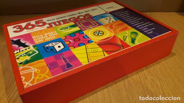 Juegos de mesa: 365 JUEGOS / 1 PARA CADA DÍA DEL AÑO / JUGUETES CAYRO / COMPLETO EN CAJA DE MADERA. - Foto 6 - 119286247