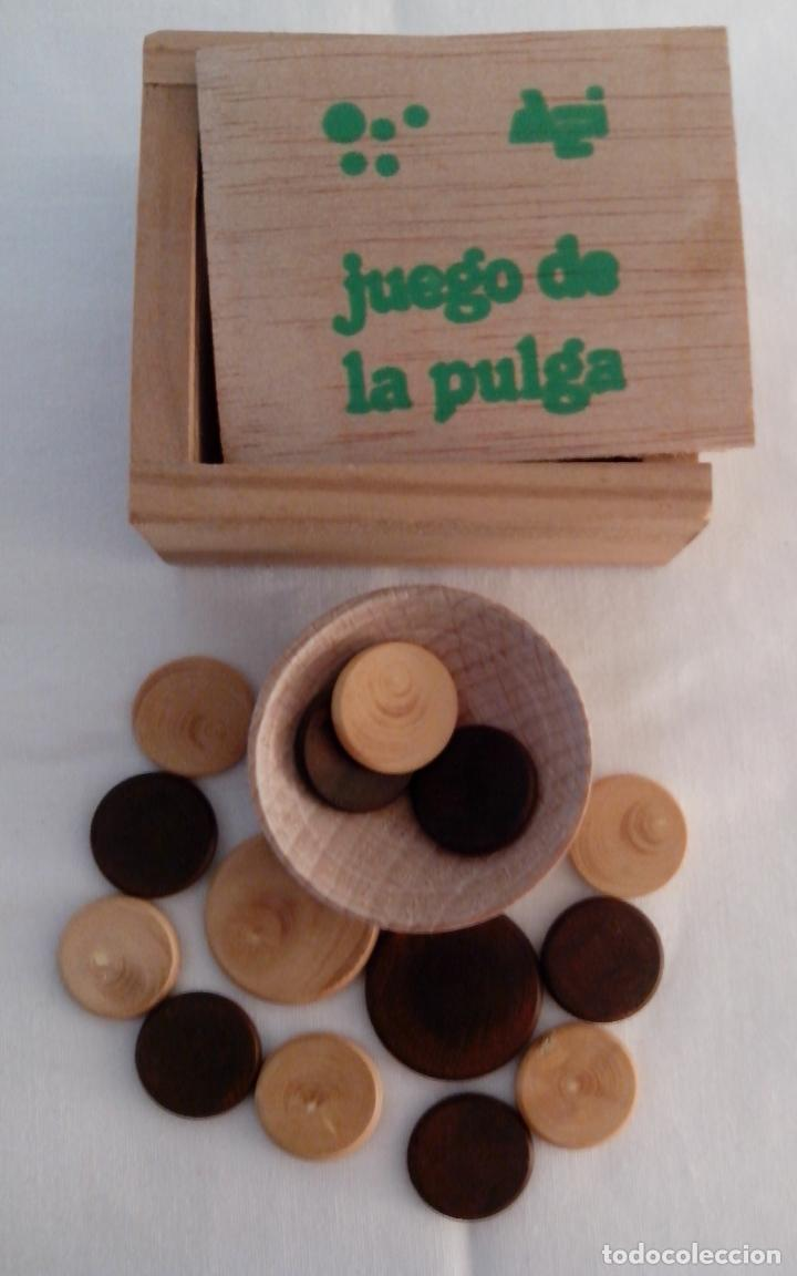 CAJA DE MADERA JUEGO DE LA PULGA - MINIATURA (Juguetes - Juegos - Juegos de Mesa)