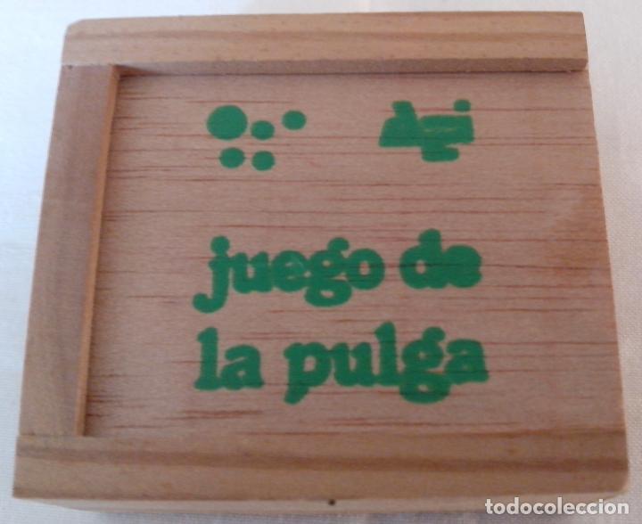 Juegos de mesa: CAJA DE MADERA JUEGO DE LA PULGA - MINIATURA - Foto 2 - 119339855