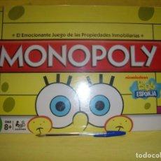 Juegos de mesa: MONOPOLY BOB ESPONJA DE HASBRO, AÑO 2010, NUEVO PRECINTADO.. Lote 120674287