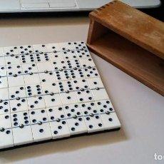 Juegos de mesa: JUEGO DOMINÓ DE HUESO VINTAGE. Lote 120927407
